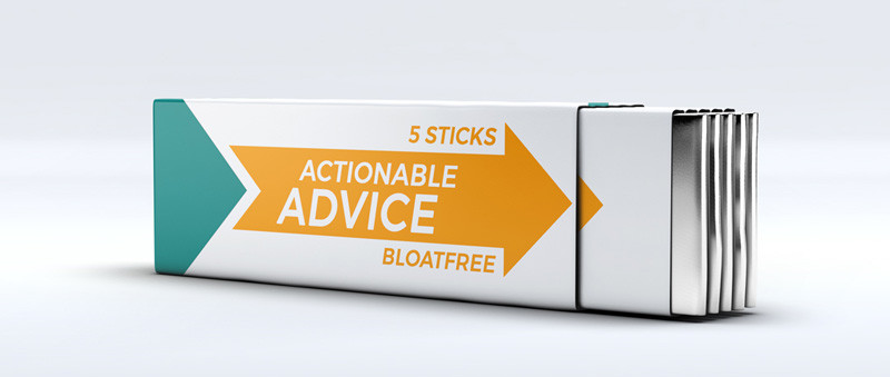 Actionable Advice - Chewing Gum Graphic